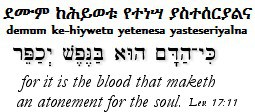 The Amharic and Hebrew Leviticus 17_11