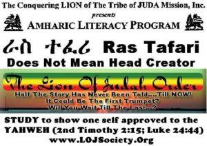 RasTafari Does Not Mean Head Creator!