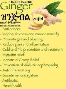 Ginger Health Benefits-ዝንጅብል