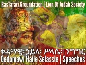 Haile Selassie I Speeches