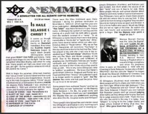 A'EMMRO | Rastafari Study Tracts #1 | IS HAILE SELASSIE I CHRIST?