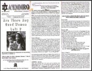 A'EMMRO | Rastafari Study Tracts #10 | Are There Any Good Women Left?