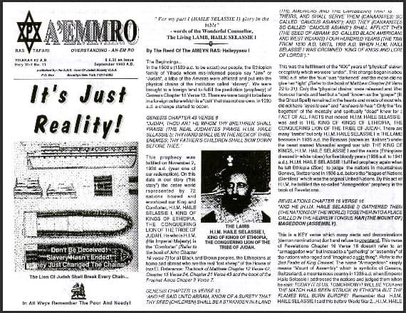A'EMMRO | Rastafari Study Tracts #11 | It's Just Reality!