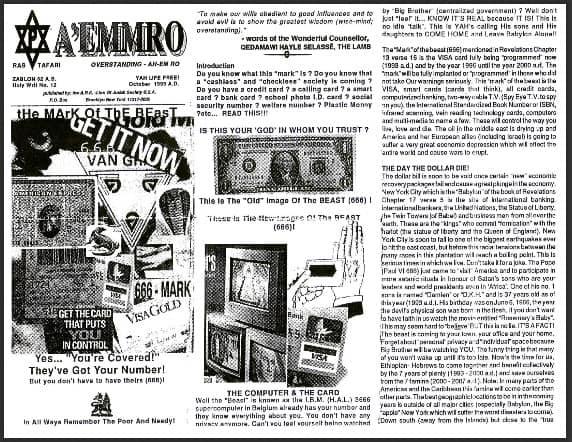 A'EMMRO | Rastafari Study Tracts #12 | tHe MArK Of ThE BEasT