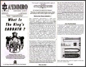 A'EMMRO | Rastafari Study Tracts #14 | What Is The King's SABBATH?