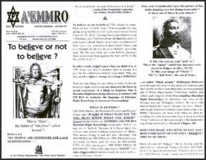 A'EMMRO | Rastafari Study Tracts #19 | To believe or not to believe?