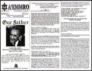 A'EMMRO | Rastafari Study Tracts #20 | Our Father