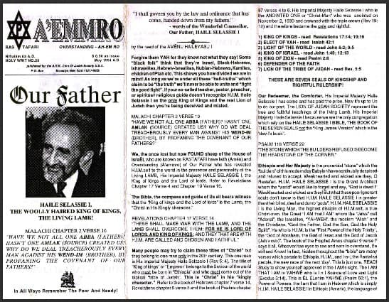 A'EMMRO | Rastafari Study Tracts #20 | Our Father