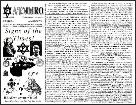 A'EMMRO | Rastafari Study Tracts #26 | Signs of the Times!