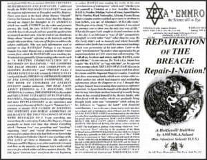 A'EMMRO | Rastafari Study Tracts #28 | REPAIRATION OF THE BREACH: Repair-I-Nation!