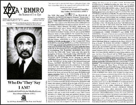 A'EMMRO | Rastafari Study Tracts #29 | Who Do They Say I AM?