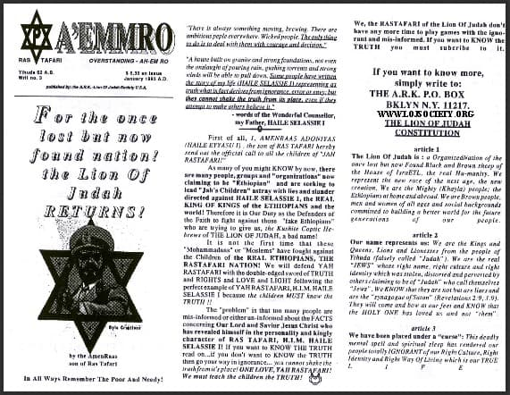 A'EMMRO | Rastafari Study Tracts #3 | For the once lost but now found nation!