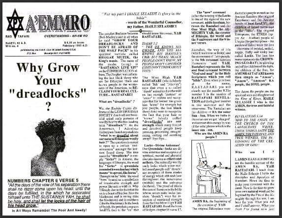 "A'EMMRO | Rastafari Study Tracts #4 | Why Grow Your ""dreadlocks""?"