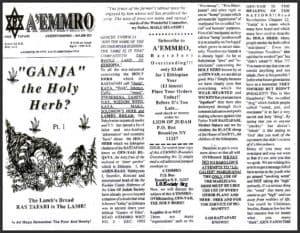 "A'EMMRO | Rastafari Study Tracts #6 | ""GANJA"" the Holy Herb?"