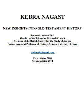 Free PDF Book | KEBRA NAGAST – NEW INSIGHTS INTO OLD TESTAMENT HISTORY By Dr Bernard Leeman