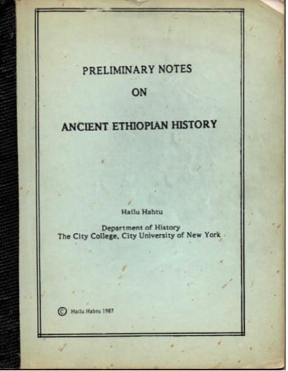 Free PDF Book | Preliminary Notes On Ancient Ethiopian History By Hailu Habtu