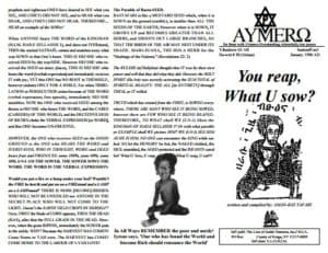 A'EMMRO | Rastafari Study Tracts #30 | You reap, What U sow!