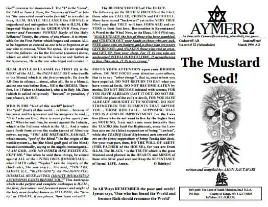A'EMMRO | Rastafari Study Tracts #32 | The Mustard Seed!
