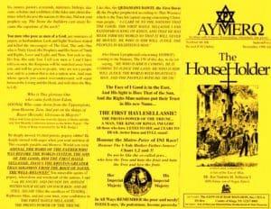 AYMERO | Rastafari Study Tracts #40 | The House Holder