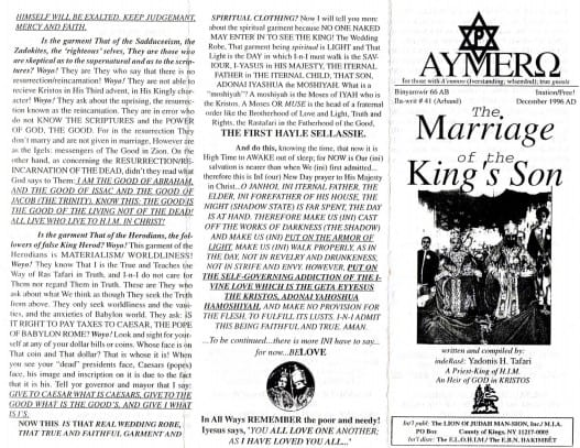 AYMERO | Rastafari Study Tracts #41 | The Marriage of the King's Son