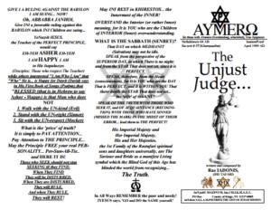 AYMERO | Rastafari Study Tracts #57 | The Unjust Judge...