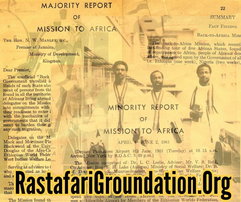 Majority | Minority | Summary Report of Mission to Africa | 1961