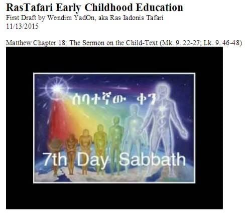 RasTafari Early Childhood Education