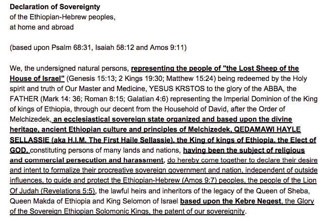Declaration of Sovereignty