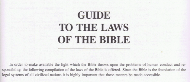 GUIDE TO THE LAWS OF THE BIBLE