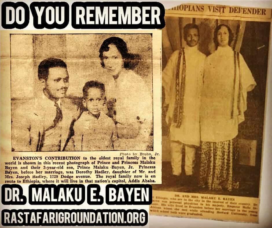 Prince Malaku Bayen of Ethiopia, Nephew of Emperor Haile Selassie I