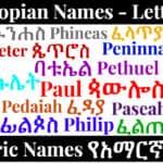 Ethiopian Names - Letter P - Amharic Names የአማርኛ ስሞች