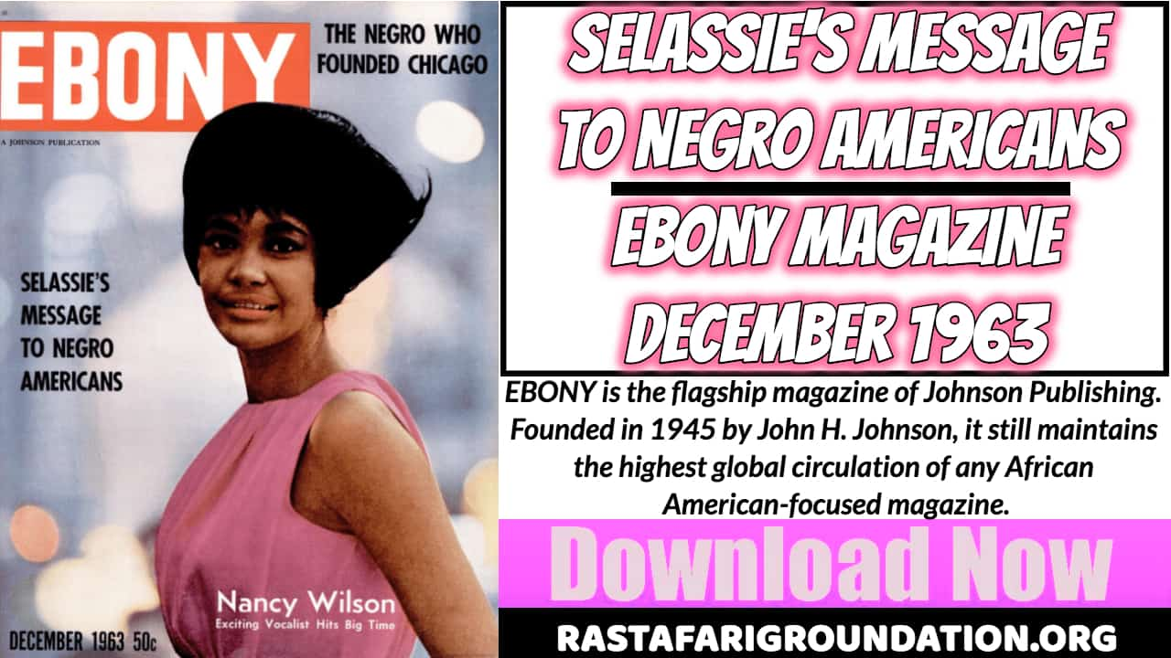 Free PDF | Selassie's Message to Negro Americans – Ebony Magazine, December 1963