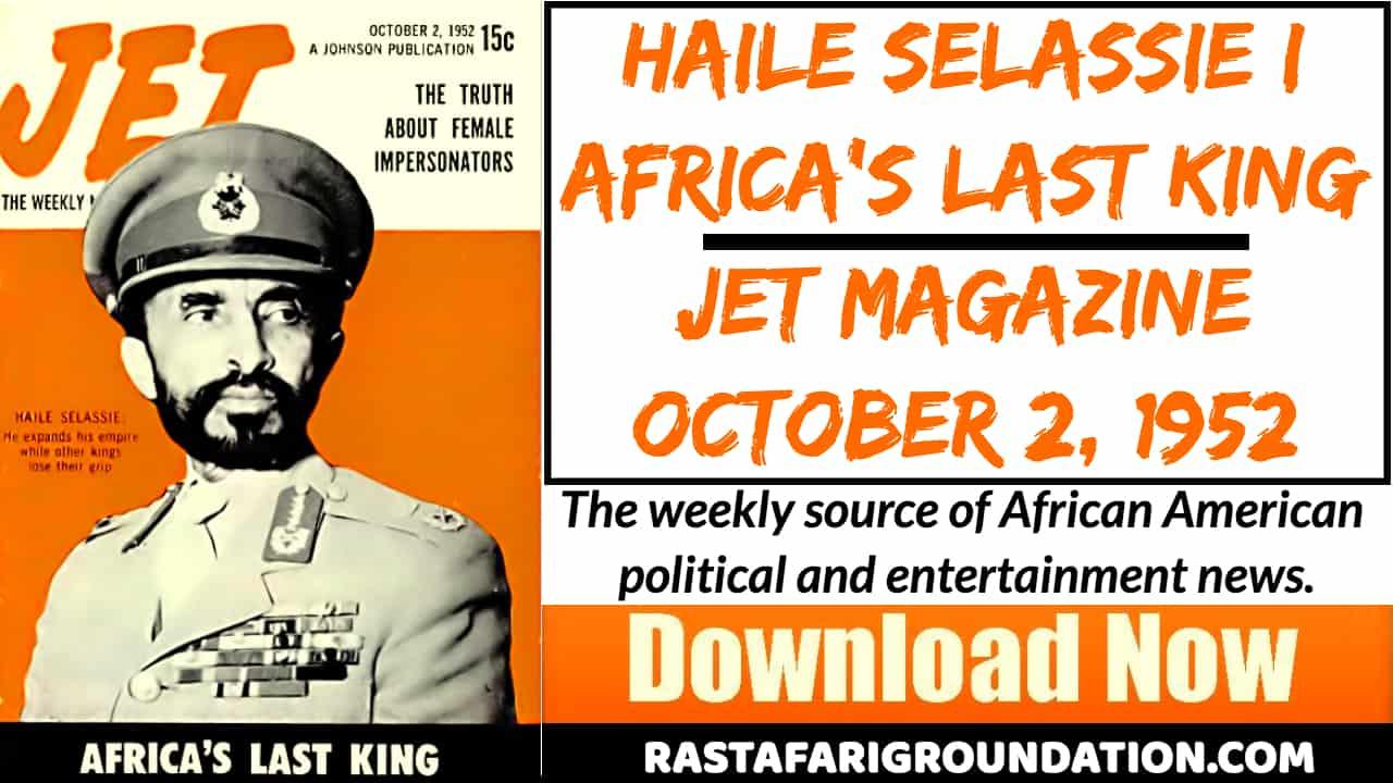 Free PDF | Haile Selassie I, Africa's Last King – Jet Magazine, October 2, 1952