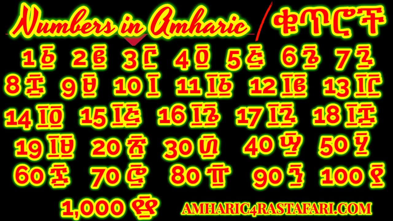 Numbers in Amharic|ቁጥሮች በአማርኛ