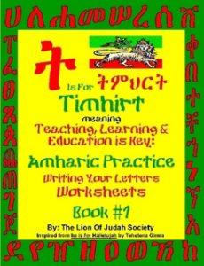 Amharic Writing Practice Workbook by The LOJ Society